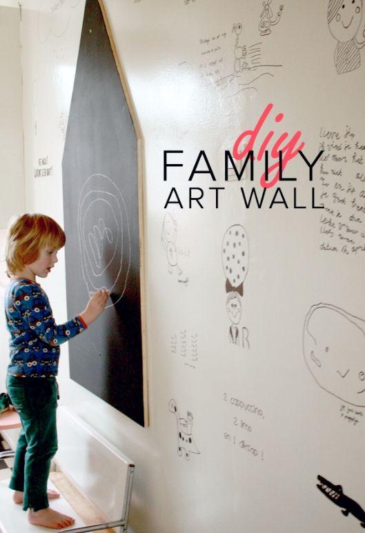 Maak van de mooiste kindertekeningen een Family Art Wall