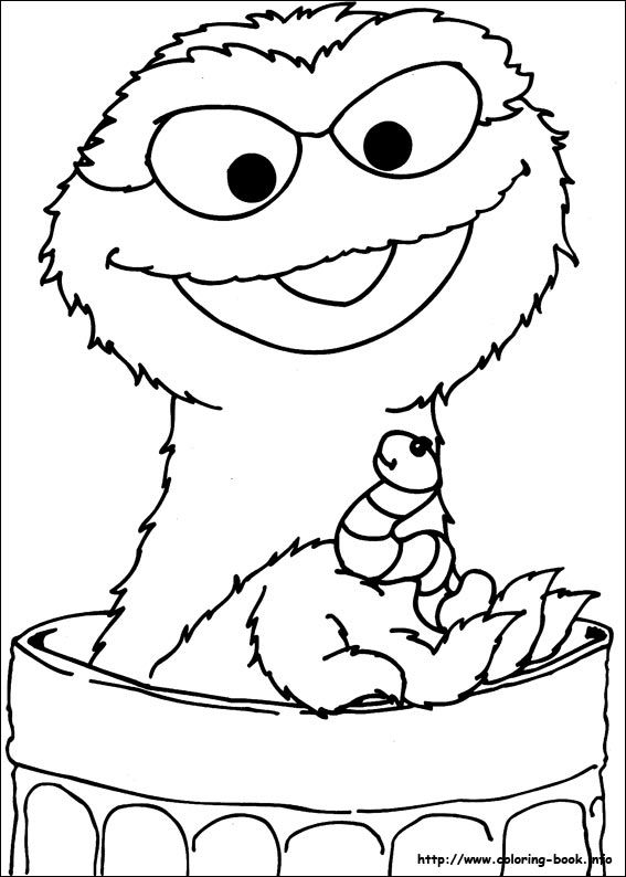 sesame coloring pages | 13 best Oscar the Grouch images on Pinterest | Sesame ...