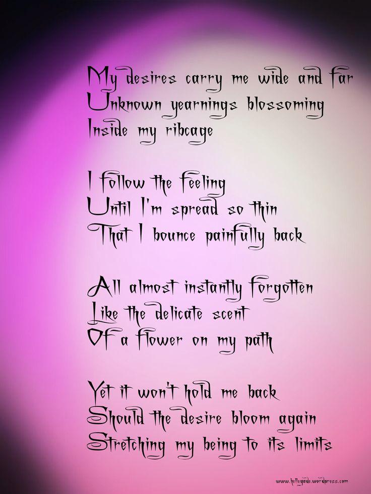 ~ Desires ~  #poetry
