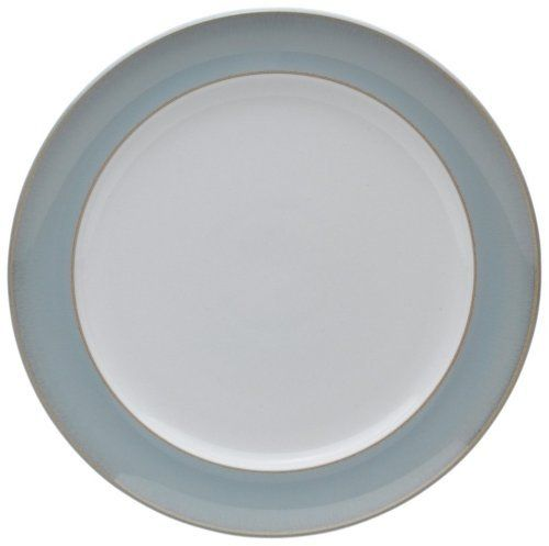 Denby Mist Wide Rimmed Dinner Plate by Denby. $32.20. Dishwasher, microwave, oven and freezer safe. Strong, durable and chip-resistant. Denby Mist Wide Rimmed Dinner Plate. Each piece of pottery is painstakingly glazed by skilled craftsman.. Material: stoneware. Indulge your senses with Mist. Dreamy shades of chalk blue to accent with the warmer lines of Mist Falls.  Anyone who owns Denby will tell you how versatile it is and how good it feels.  Every piece has been design...