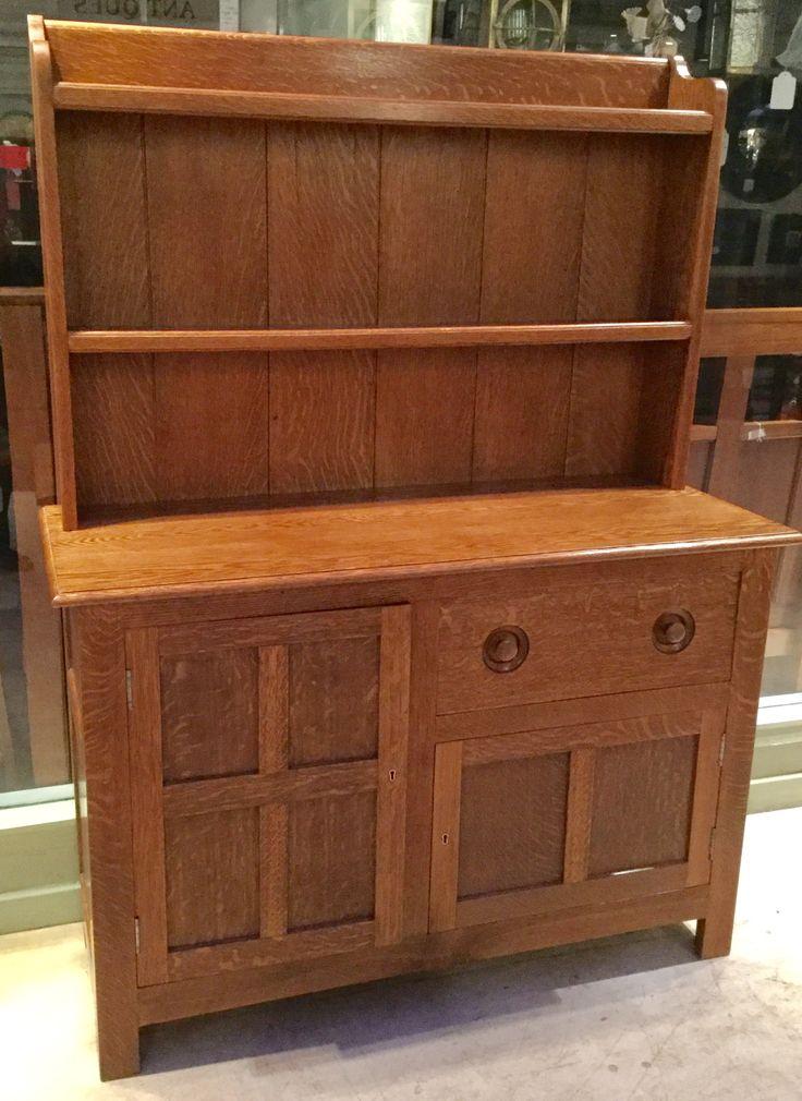 Small honey oak sideboard