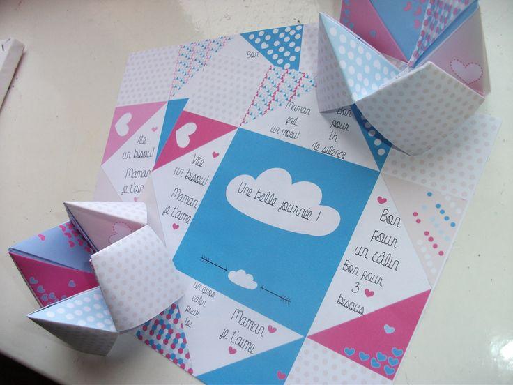 Les cocottes en papier pour la fête des mères  - Avec Ses dix doigts, on fait quoi nounou ?