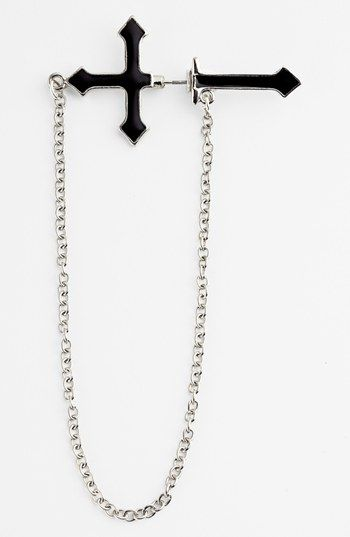 Orion Single Cross & Chain Illusion Earring available at #Nordstrom I see Madonna 80s all over again