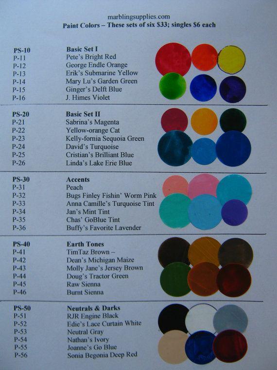 Marbling Paint Acrylic Complete Set of 30 DIY by MarblingSupplies