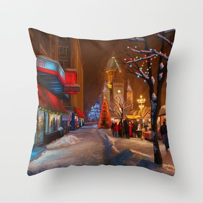 Timisoara Christmas Market - Throw Pillow