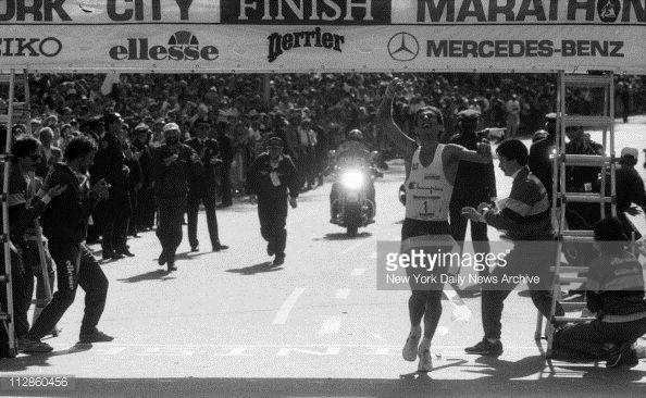 "New York City Marathon 1985, 27 ottobre. Orlando Pizzolato (1958), 2h11'32"" [Getty Images]"