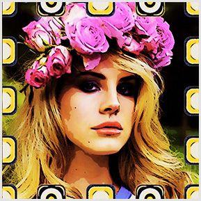 Lana Del Rey - Quadrinhos confeccionados em Azulejo no tamanho 15x15 cm.Tem um ganchinho no verso para fixar na parede. Inspirados em propagandas antigas. Para entrar em contato conosco, acesse: www.babadocerto.com.br
