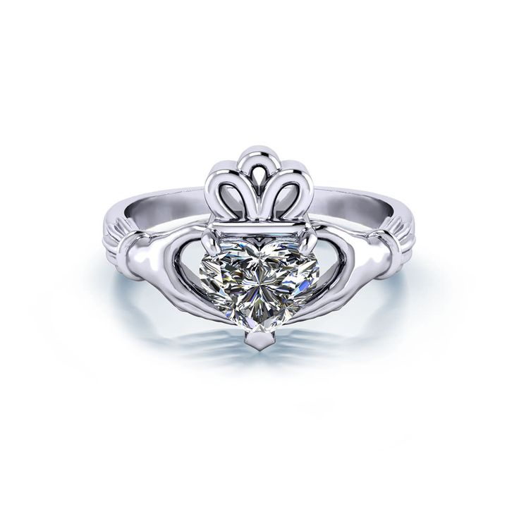 The impeccable attention to detail in our Claddagh engagement ring is evident to all who see it.