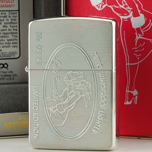1994 Plated Silver Zippo Windy Girls Lighter Limited Edition