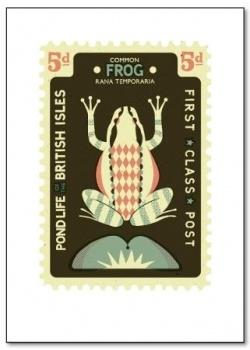 Tom Frost Frog stamp