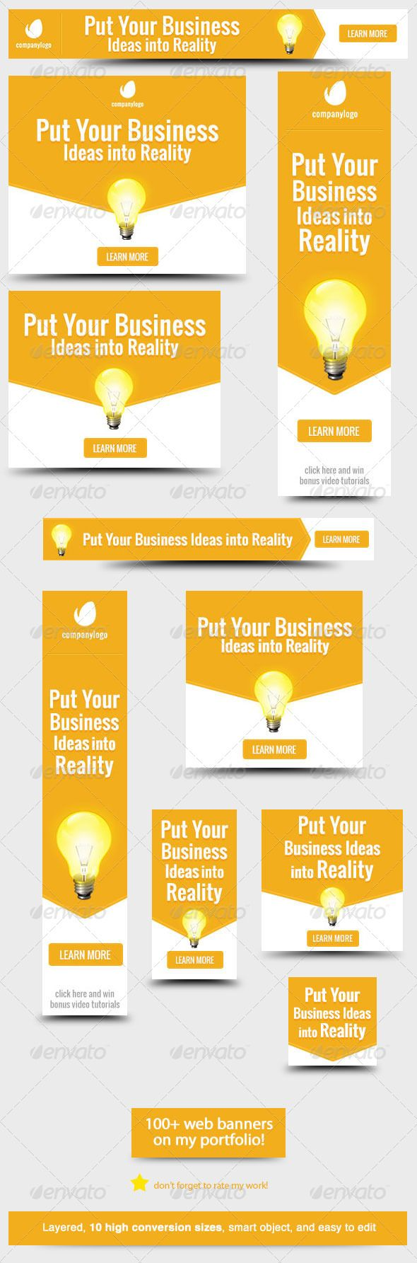 Design google banner ads - Business Idea Web Banner Design