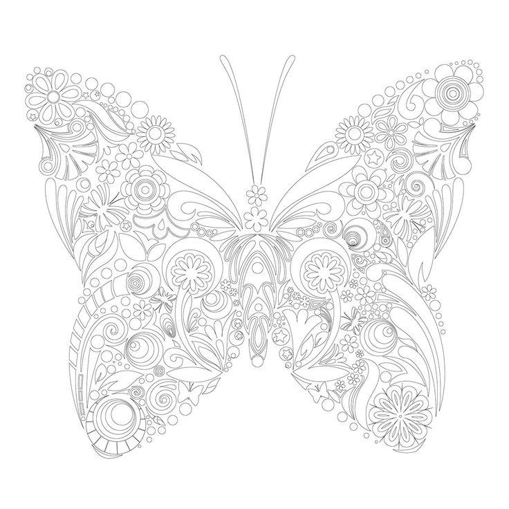 kreativ meditativ tiere strich f r strich entspannen b cher butterfly coloring. Black Bedroom Furniture Sets. Home Design Ideas