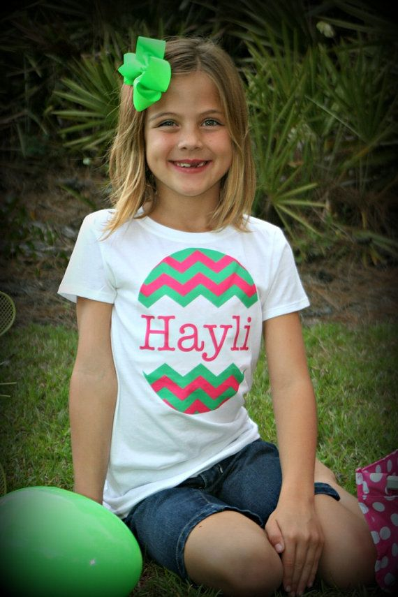 Personalized Easter Egg Chevron Shirt