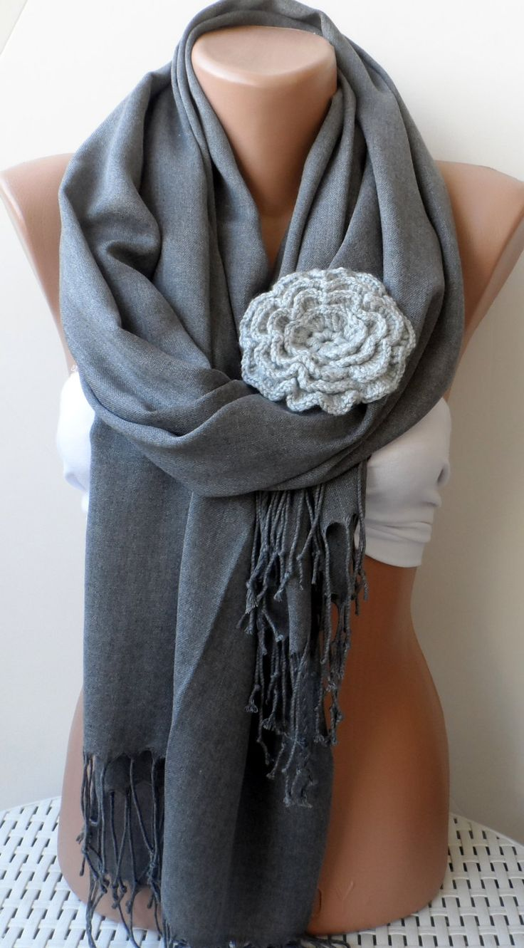 Grey shawls Bridesmaid pashmina shawls Grey by elegancescarf, $21.00