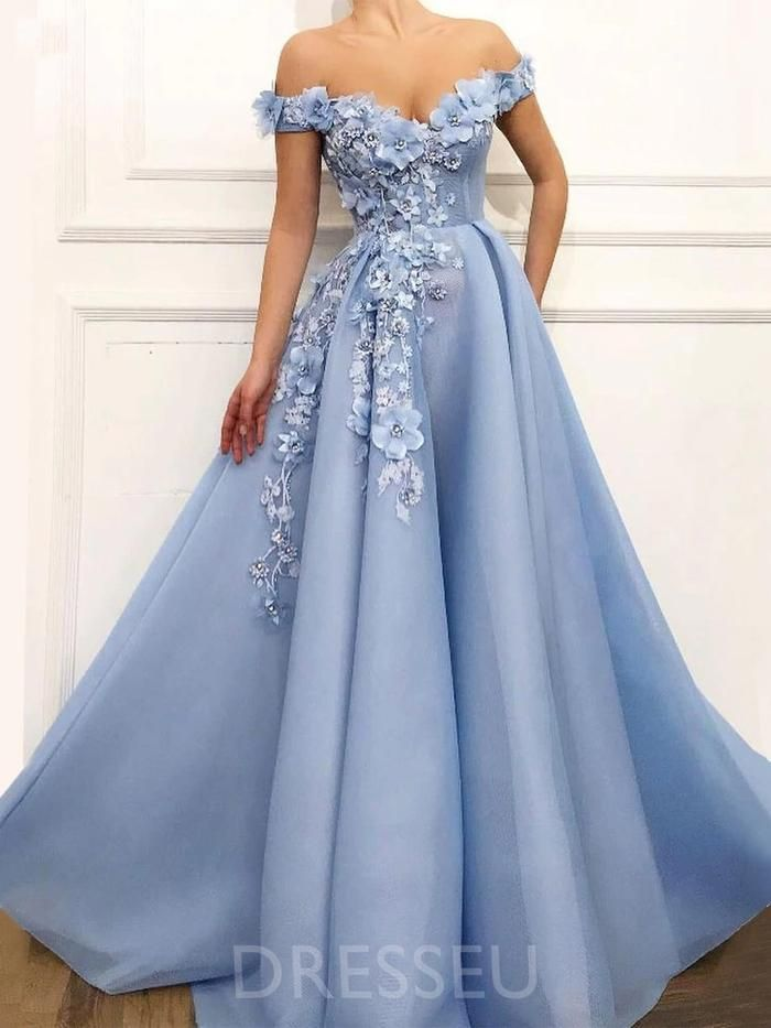 Short Sleeves Sweep/Brush Train Appliques Ball Gown Prom Dress