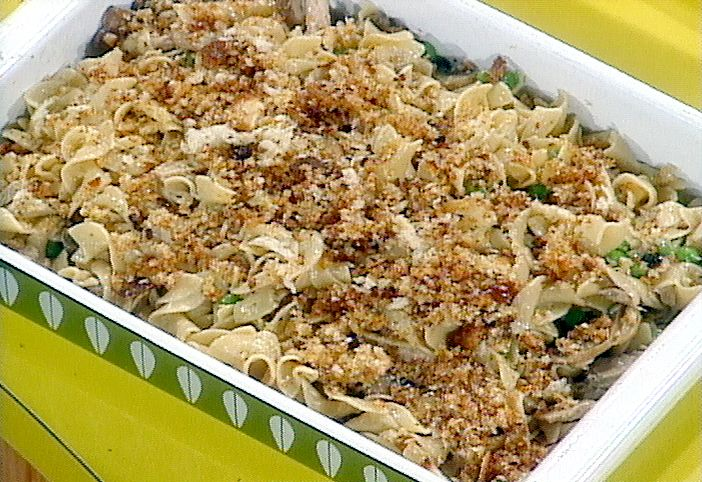 Retro-Metro Fancy Tuna Casserole from FoodNetwork.com, now this is the best using fresh, not canned!