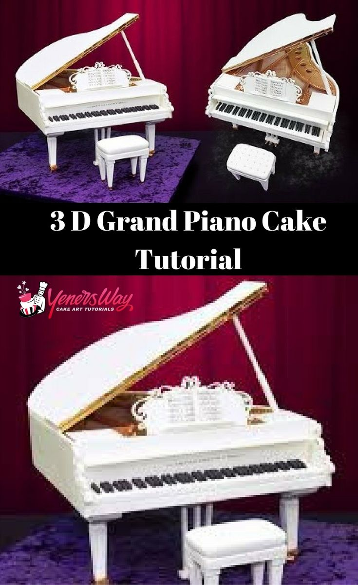 Decorating with a piano - Learn To Make A Perfect 3d Piano Cake The Tutorial Is Amazing The