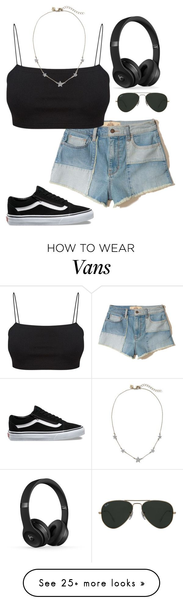 """""""Untitled #336"""" by agfulcher14 on Polyvore featuring Hollister Co., Vans and Ray-Ban"""