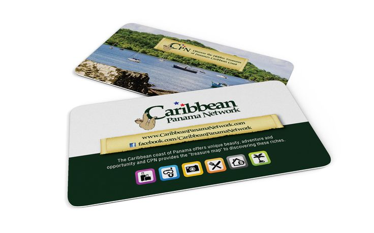 Caribbean Panama Network business card design