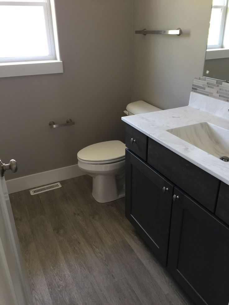 Bathroom With Coretec Flooring In Plymouth Oak Luxury Vinyl Planking Design By Dennis In 2019