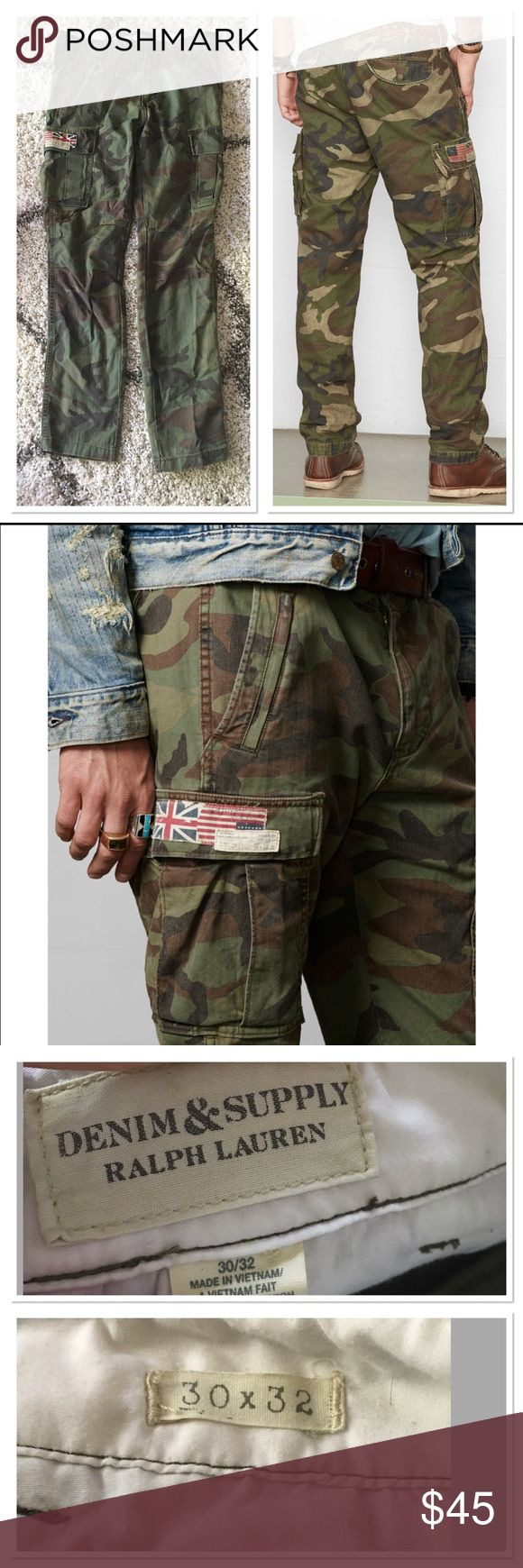 Ralph Lauren denim and supply camo pants 30x32 Basically new camouflage pants by Ralph Lauren men's  size is 30 x 32 cargo style Ralph Lauren Pants Cargo