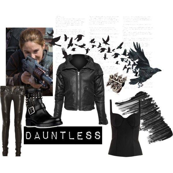 """Divergent: Tris Costume (Dauntless)"" on Polyvore"