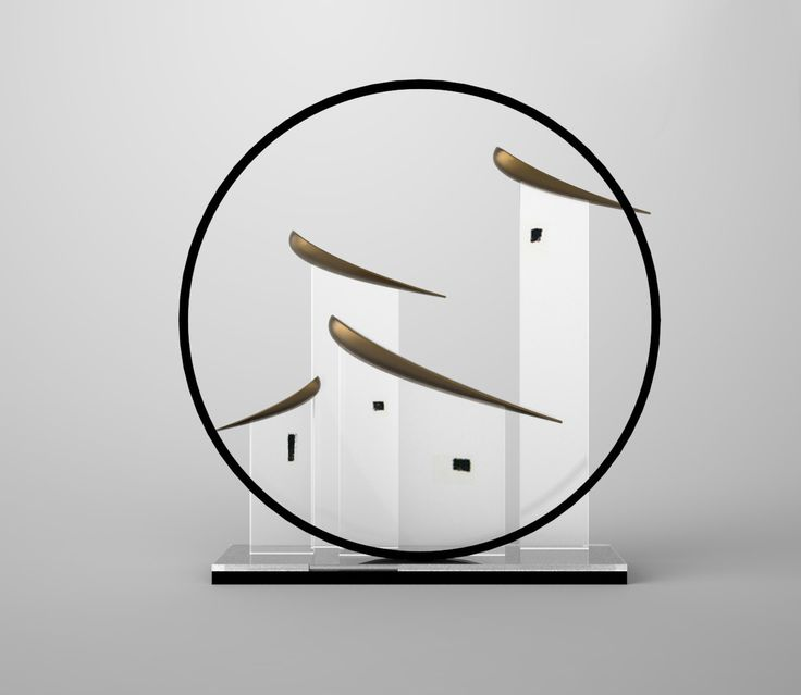 ceramic sculpture deco branch bird transparent acrylic metal screen luxury zen…