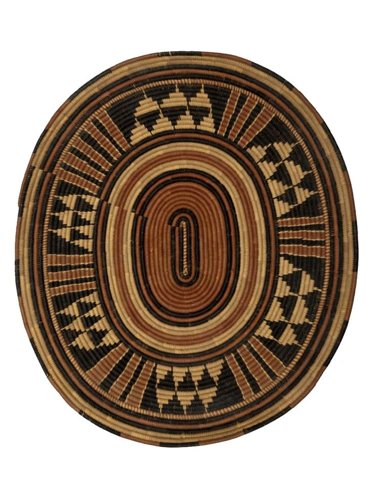 A Woven Dress Featuring An Allover: Basketry Tray From The Fulani People Of Nigeria