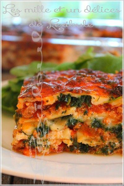 les milles un d lices de lexibule lasagne la saucisse italienne et aux pinards riz. Black Bedroom Furniture Sets. Home Design Ideas