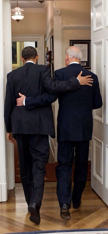 "Obama & Biden. ""Describing a conversation during one of their weekly lunches, Biden said he was concerned about caring for Beau's family without his son's salary. ""And (Obama) got up and he said, 'Don't sell that house. Promise me you won't sell the house,'"" Biden continued, speculating Obama would be ""mad"" he was retelling the story [...] http://www.cnn.com/2016/01/11/politics/joe-biden-bernie-sanders-hillary-clinton-income-inequality/index.html"