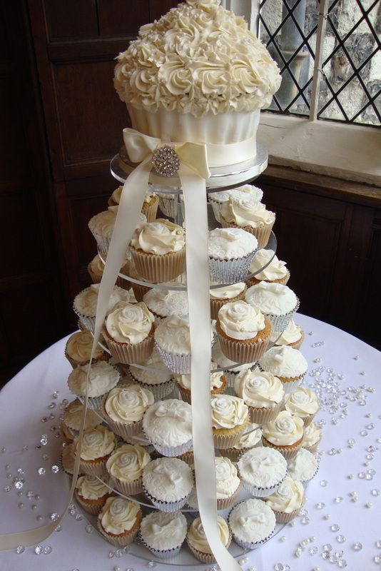 25 Best Ideas About Cupcake Wedding Cakes On Pinterest