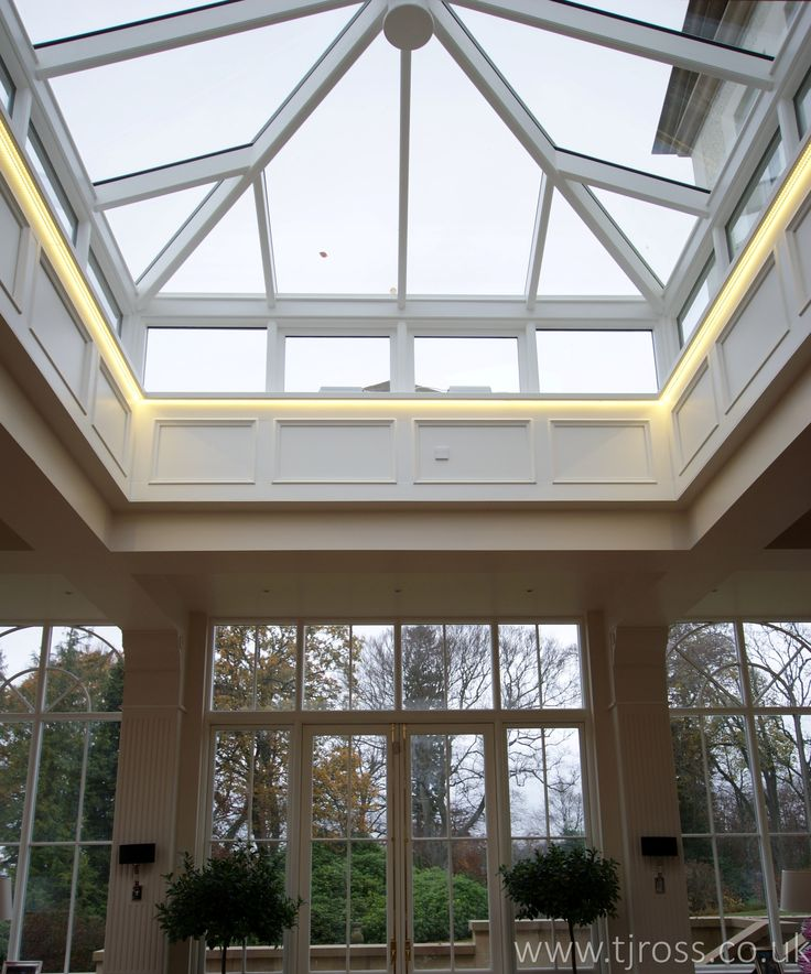Stunning Cupola with bespoke panelling, French doors and Fixed Windows to the Garden Room