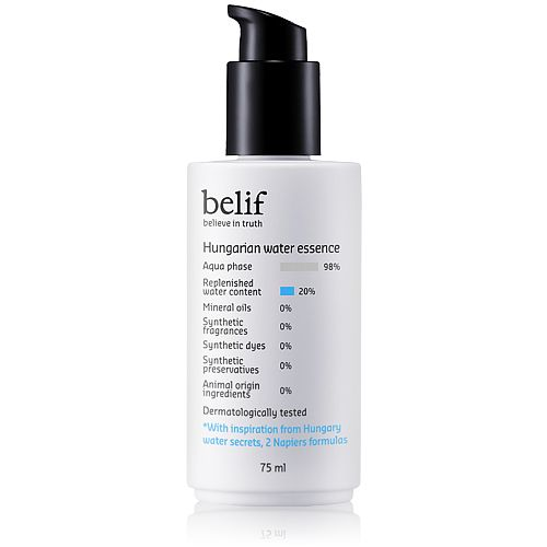 BELIF Hungarian Water Essence | Korean Beauty Products | Recommended KBeauty Cosmetics for sensitive Skin | This product provide cool sensation and  clings to the skin lightly without stickiness, prolonging suppleness and softness.