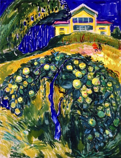Apple Tree in the Garden Edvard Munch - 1932-1934