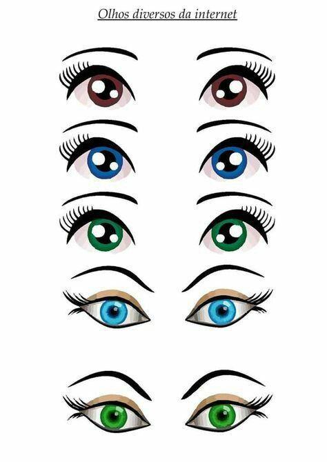 нарисовать глаза для куклы картинки используется