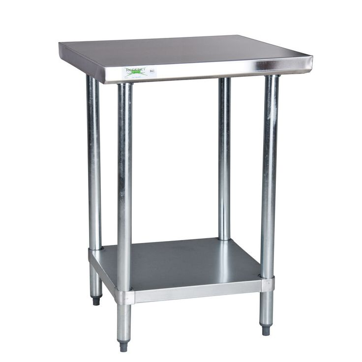 stainless steel work table commercial kitchen bench gridmann prep w backsplash 30 x 24 tables
