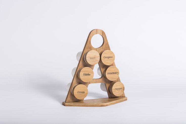 Bamboo Mini Spice Rack