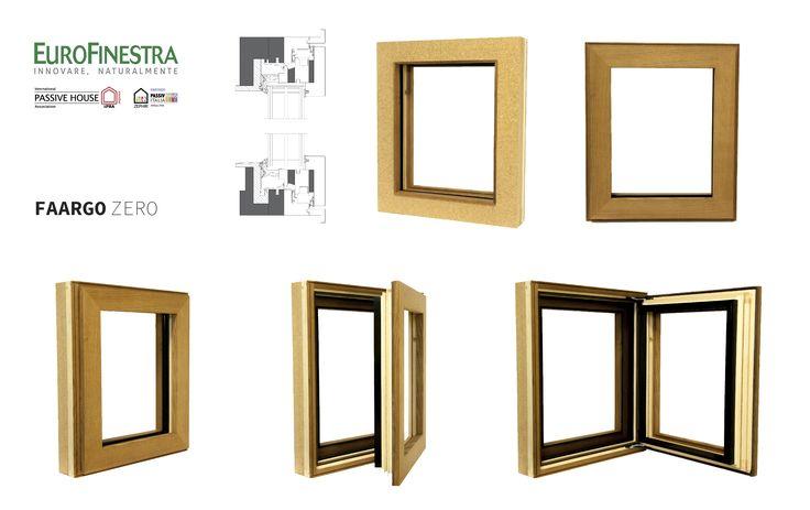 wood and cork window frame Uf=0,64w/m2K