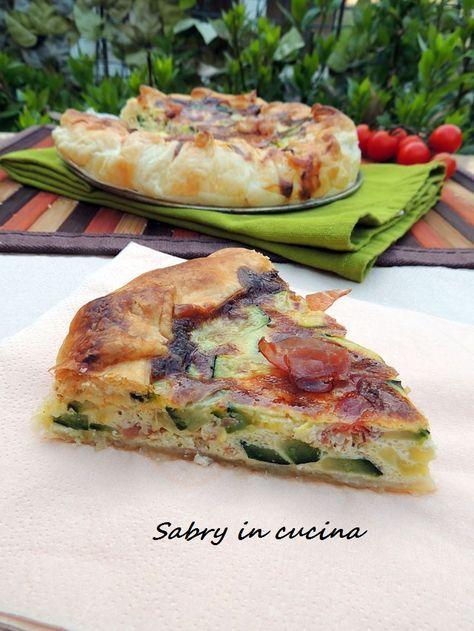 Torta salata zucchine e speck - Sabry in cucina
