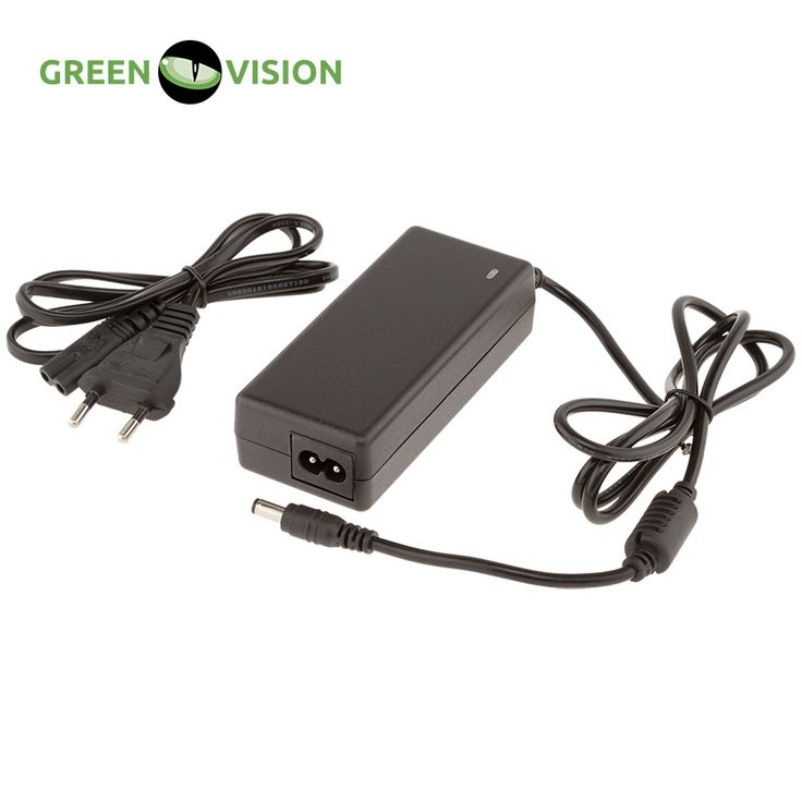 GREEN VISION Switching power adapter GV-SAS-H 12V3A with plug,current output, galvanic isolation, short circuit protection #3568