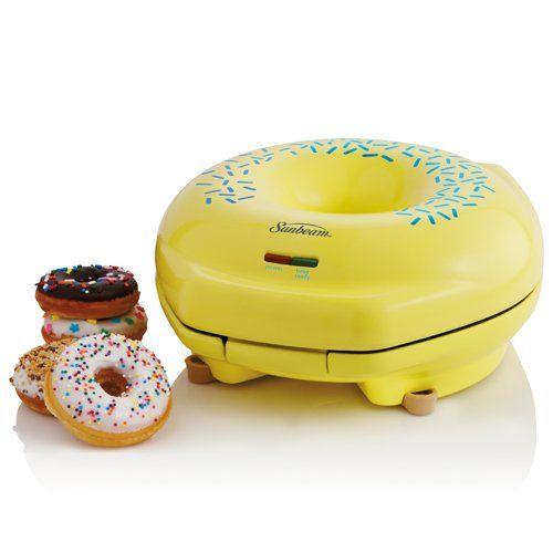 Sunbeam FPSBDML920 Donut Maker, Yellow Sunbeam http://www.amazon.com/dp/B003TSB4M8/ref=cm_sw_r_pi_dp_zPpRtb0B2JQMKGSM
