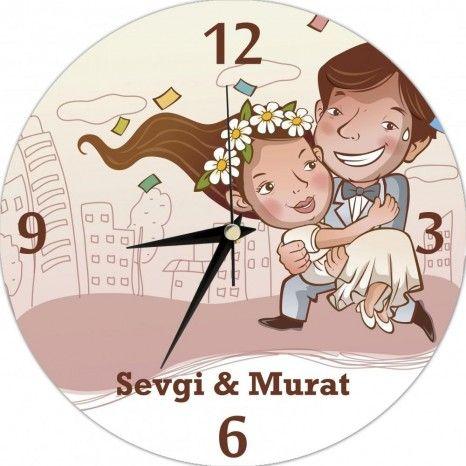 Kişiye Özel Evleniyoruz Saat