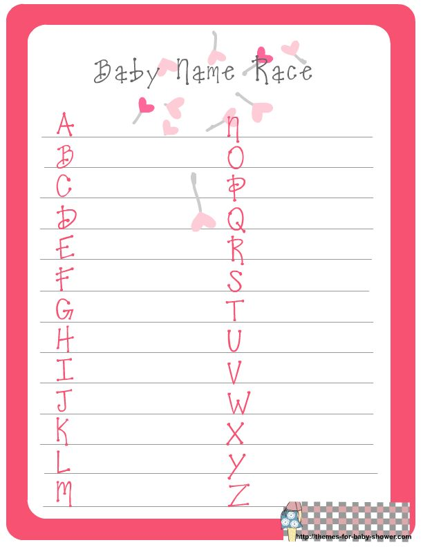 baby shower ideas for girls | ... game a very cute game that is suitable for girl baby shower print it