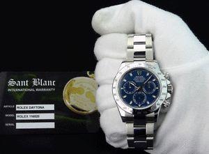 a rolex rehaut 40mm daytona stainless steel blue index 116520 sant blanc