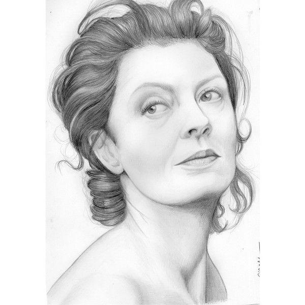 Susan Sarandon Pencil Portrait.