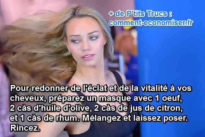 Vous cherchez un soin naturel pour fortifier vos cheveux ?   Découvrez l'astuce ici : http://www.comment-economiser.fr/masque-vitalite-pour-cheveux.html?utm_content=buffer1c9ff&utm_medium=social&utm_source=pinterest.com&utm_campaign=buffer