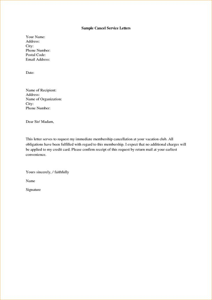 letters service outline templates cancellation letter termination - termination letter description