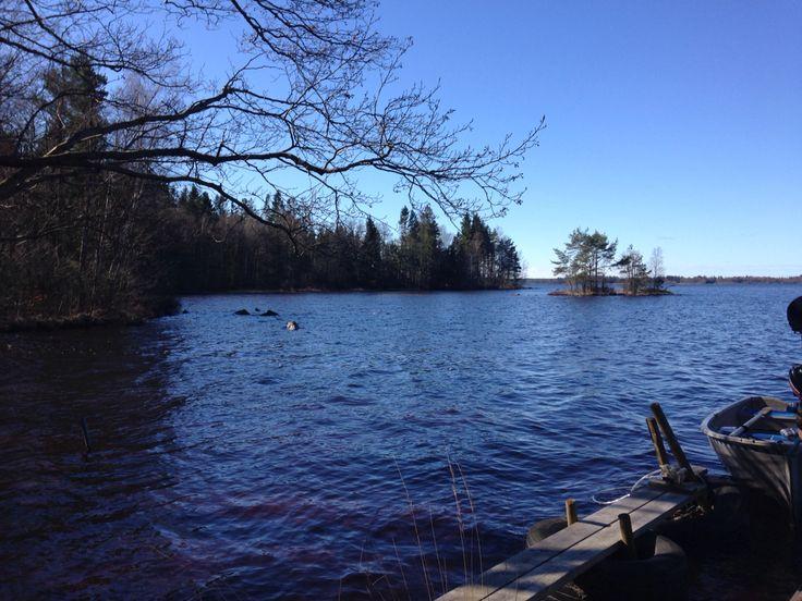 Lake Kösen in Småland Sweden