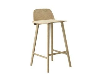 High oak barstool NERD | Stool - MUUTO