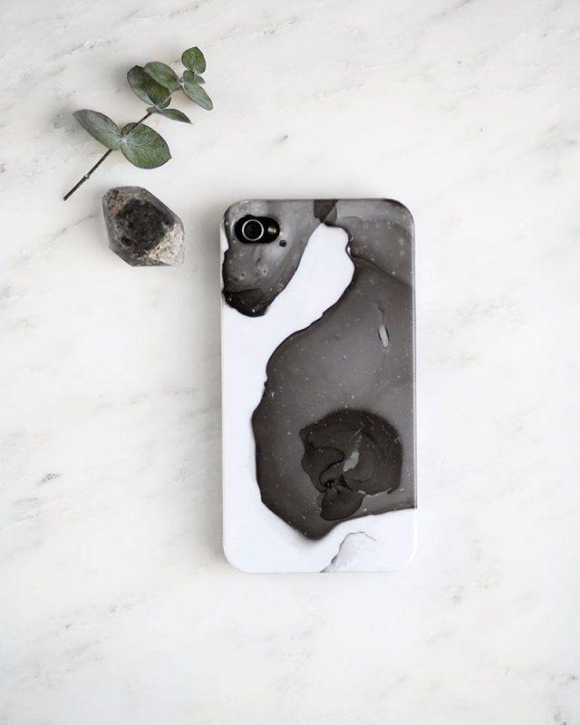 DIY coque de téléphone effet marbre DIY phone case marble